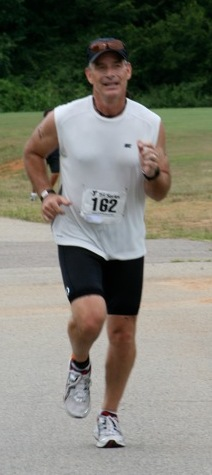Me dying at the end of my Sprint Triathlon in 2011.